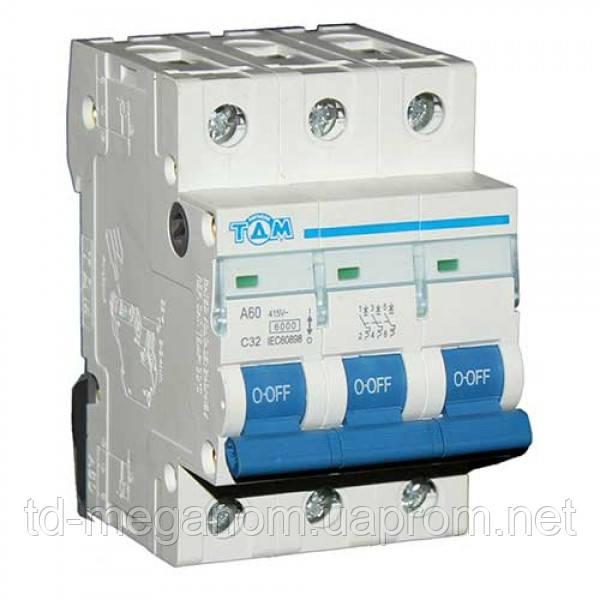 Автоматический выключатель 3 Полюса 32А
