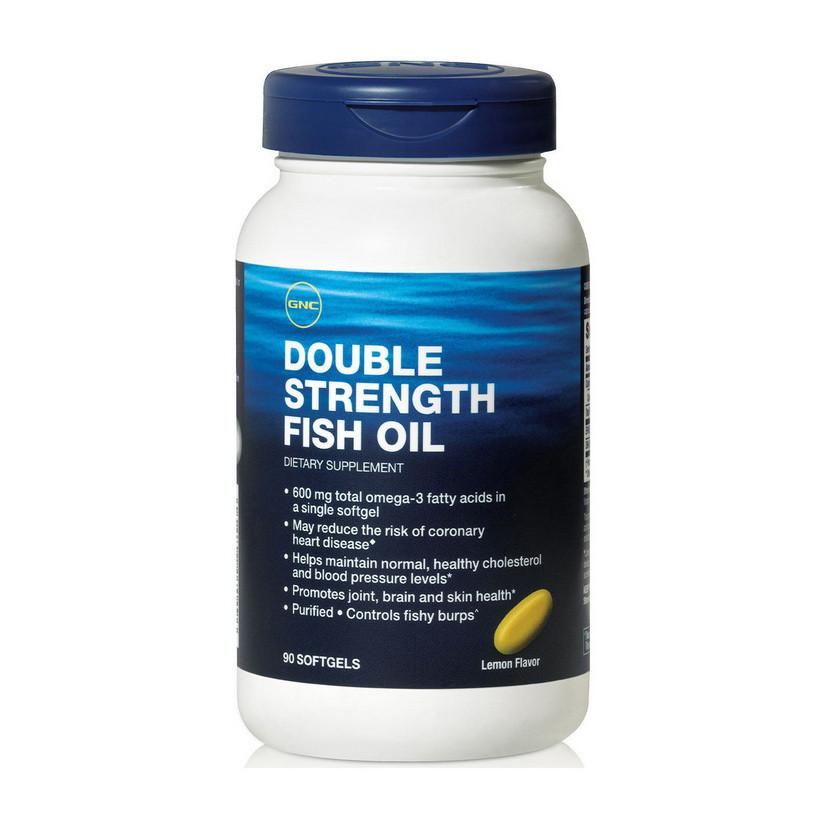 Омега 3 GNC Double Strength Fish Oil (90 капс) рыбий жир гнс