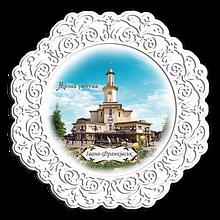 Тарелка деревянная 23 см м. Івано-Франківськ. Міська ратуша