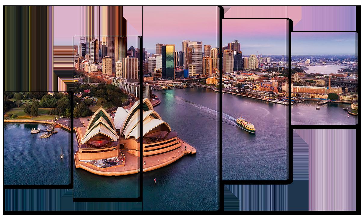 Модульная картина Interno Холст Столица Австралии 123х69см (R3754M)