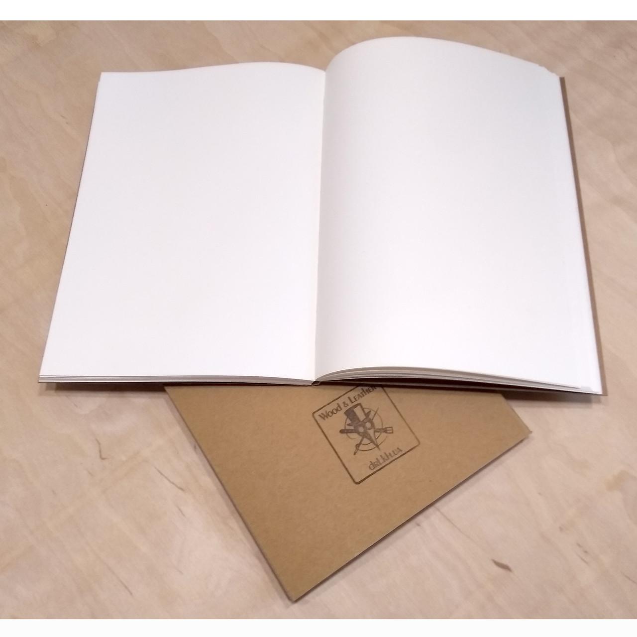 Блок белой бумаги формат А5 для кожаных блокнотов