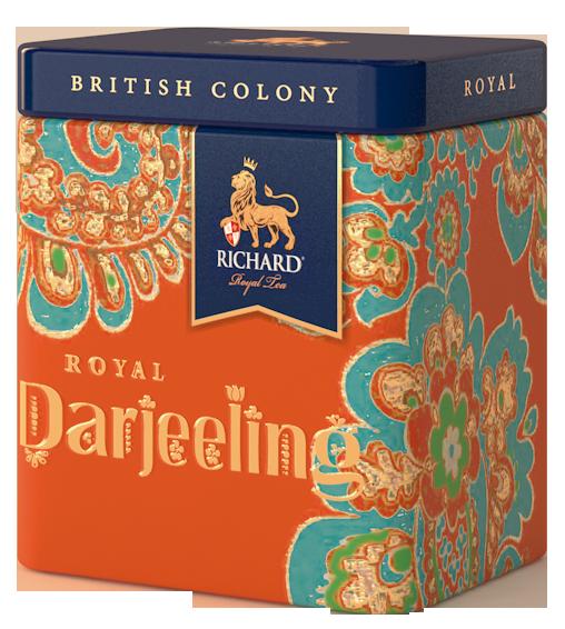 """Чай черный листовой с легким мускатным и цветочным ароматом Ричард (Richard) """"Royal Darjeeling"""", 50 г. ж/б"""