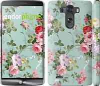 """Чехол на LG G3 D855 Цветочные обои 2 """"862c-47"""""""