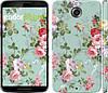 """Чехол на Motorola Nexus 6 Цветочные обои 2 """"862c-67"""""""