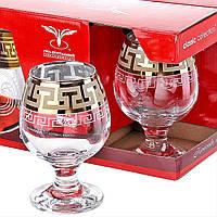 """Набор бокалов для бренди 6шт. 250 мл """"Греческий узор""""."""