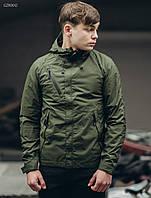 Мужская молодежная весенняя куртка (стаф) Staff windstorm haki GZR0012 в наличии р. хс