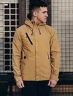 Мужская молодежная весенняя куртка (стаф) Staff windstorm beige GZR0013