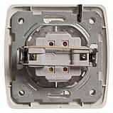 Выключатель встраиваемый 2 клавишный Сarmen белый, фото 2