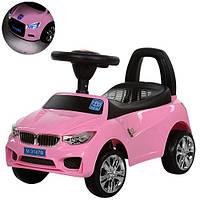 Машинка каталка-толокар BMW Bambi M 3147B БМВ, Розовый