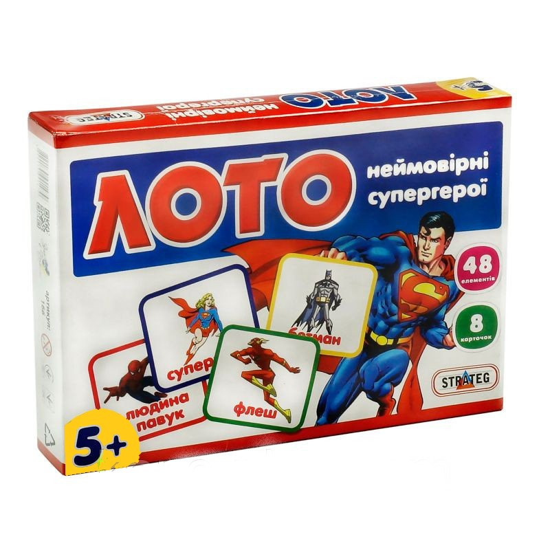 Игра лото. Развивающие карточки для детей Strateg 30650-30655