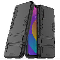 Чехол Hybrid case для Xiaomi Mi A3 (Mi CC9e) бампер с подставкой черный