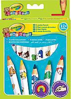 Цветные карандаши для малышей (8 шт), Mini Kids, Crayola (3678)