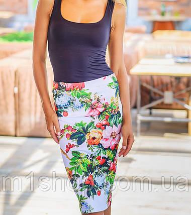 Юбка женская   Flowers, фото 2