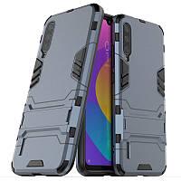 Чехол Hybrid case для Xiaomi Mi A3 (Mi CC9e) бампер с подставкой темно-синий