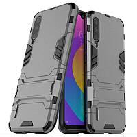 Чехол Hybrid case для Xiaomi Mi A3 (Mi CC9e) бампер с подставкой темно-серый