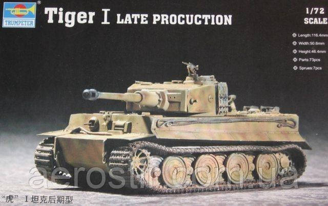 Tiger I Late Production 1/72 Trumpeter 07244