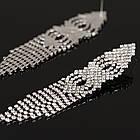 Серьги-подвески . Длинные серьги с камнями, фото 2