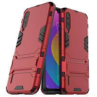 Чехол Hybrid case для Xiaomi Mi A3 (Mi CC9e) бампер с подставкой красный