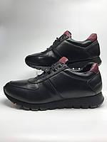 Кросівки чоловічі шкіряні чорні. Кроссовки мужские кожаные чёрные.