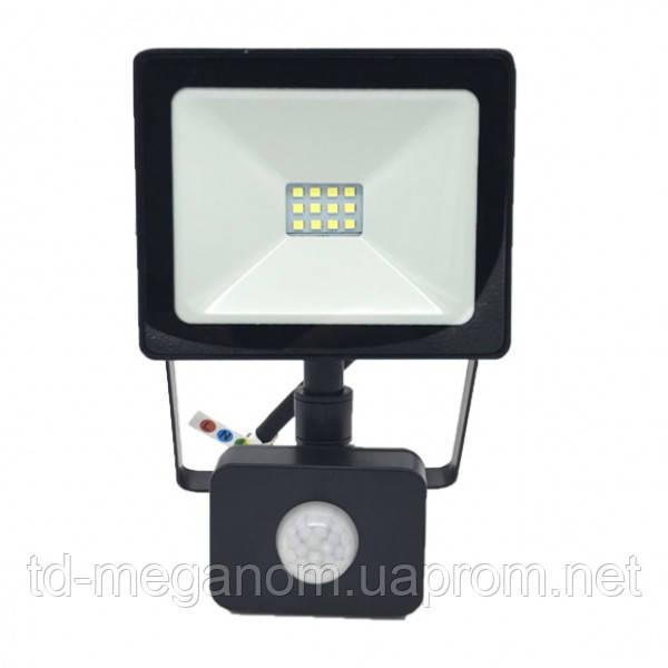 LED прожектор з датчиком руху S-10W