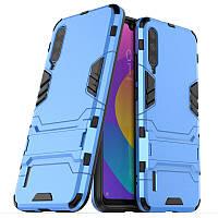 Чехол Hybrid case для Xiaomi Mi A3 (Mi CC9e) бампер с подставкой голубой