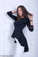 Стильная асимметричная блузка-туника из французского трикотажа  Harmony