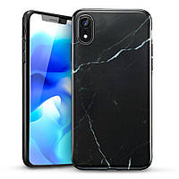 Чехол ESR для iPhone XR Marble Slim, Black (4894240071700), фото 1