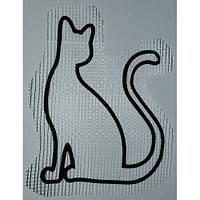 Трафарет для жидких обоев Кот А4