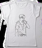 Стильная женская футболка принтом   JUNGKOOK. BTS