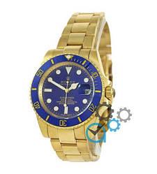 Мужские часы Rolex Submariner AAA Date Gold-Blue, механические часы Ролекс Дайтона, элитные часы реплика ААА