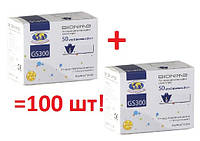 Тест-полоски BIONIME Rightest GS300 для глюкометров BIONIME GM 300 - 2x50 шт.