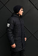 Синяя зимняя мужская куртка парка (46-54)