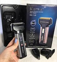 Потужна електробритва kemei txd-km 1120, електробритва для чоловіків, електробритва 3 в 1, тример/ магазин