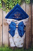 Демисезонный конверт-одеяло на выписку или крестины. Вышивка