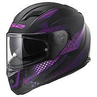 Мотошолом шлем LS2 FF320 STREAM EVO LUX MATT BLACK PINK