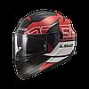 Мотошолом шлем LS2 FF320 STREAM EVO KUB RED BLACK