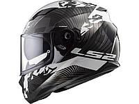 Мотошолом шлем LS2 FF320 STREAM EVO HYPE B/W TITANIUM