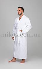 Мужской халат XXL, махровый,белый,100% хлопок, фото 2