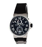 Элитные часы Ulysse Nardin Maxi Marine AAA Silver-Black, наручные часы Улюс Нардин, реплика ААА