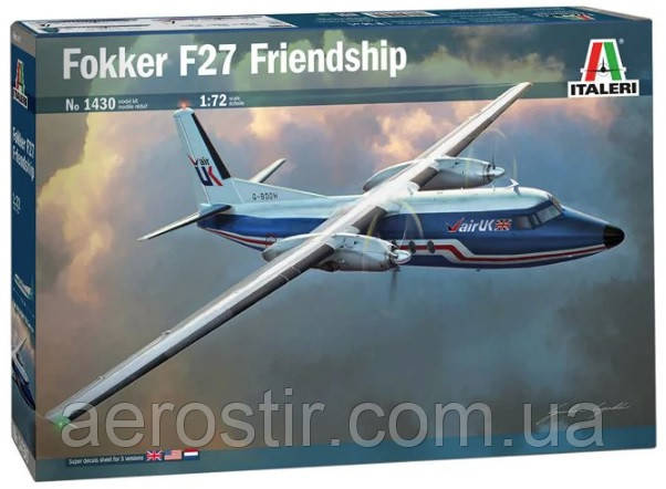 "Fokker F-27-400 ""Friendship"" 1/72  Italeri 1430"