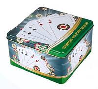 Покерний набір в жерстяній коробці