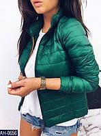 Женская короткая демисезонная куртка на молнии, разные цвета
