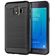 Чехол Primo Carbon Fiber Series для Samsung Galaxy J2 Core 2018 ( SM-J260 ) - Black, фото 1