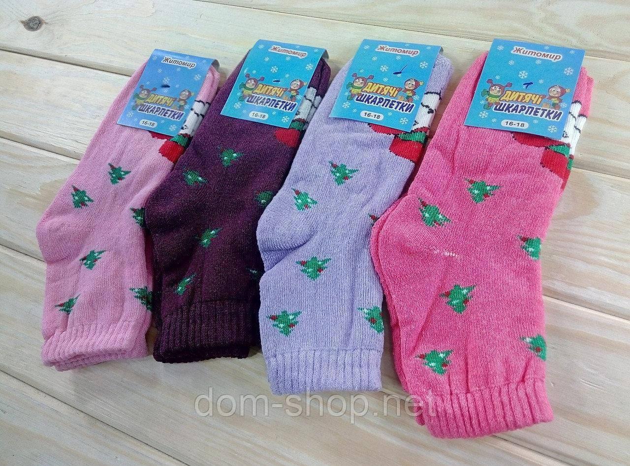 Носки детские махровые размер 16-18 для девочек Житомир Украина