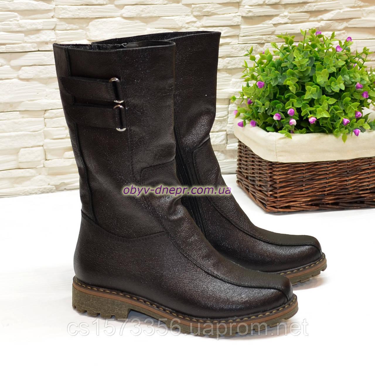 """Ботинки женские кожаные  от производителя  ТМ """"Maestro"""", цвет черный"""