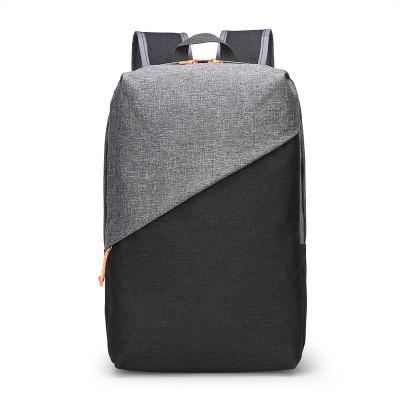 Мужской Рюкзак Городской Повседневный Тканевый Оксфорд Черный c Серым (004)