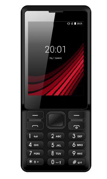 Кнопочный мобильный телефон с большим экраном на 2 сим карты ERGO F283 Shot