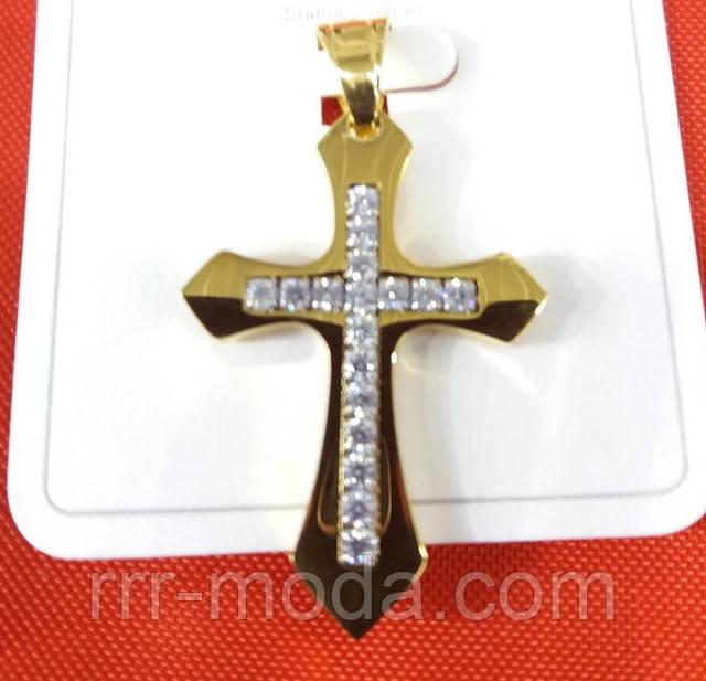Кулоны кресты в стразах, ладанки оптом. Позолоченные кулоны Xuping Jewelry 484