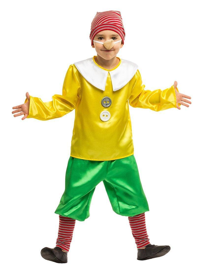 Детский карнавальный маскарадный костюм Буратино размер: 30, 32, 34