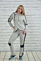 Спортивный костюм серый с синим 0338-1 GARRY-STAR